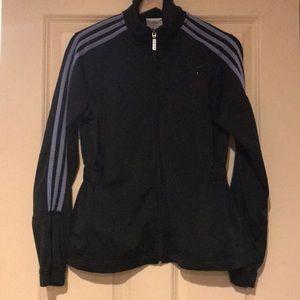Adidas purple stripe track jacket